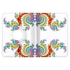Fractal Kaleidoscope Of A Dragon Head Kindle Fire Hdx Flip 360 Case by Amaryn4rt