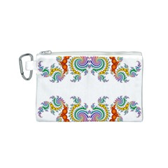 Fractal Kaleidoscope Of A Dragon Head Canvas Cosmetic Bag (s) by Amaryn4rt