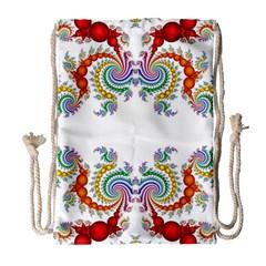 Fractal Kaleidoscope Of A Dragon Head Drawstring Bag (large) by Amaryn4rt