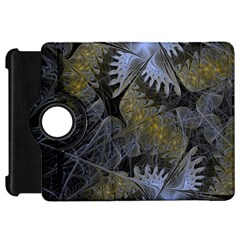 Fractal Wallpaper With Blue Flowers Kindle Fire Hd 7  by Amaryn4rt