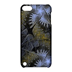 Fractal Wallpaper With Blue Flowers Apple Ipod Touch 5 Hardshell Case With Stand by Amaryn4rt
