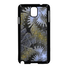 Fractal Wallpaper With Blue Flowers Samsung Galaxy Note 3 Neo Hardshell Case (black) by Amaryn4rt