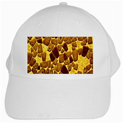 Yellow Cast Background White Cap by Amaryn4rt