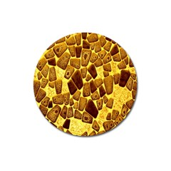 Yellow Cast Background Magnet 3  (round)