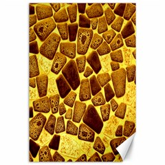 Yellow Cast Background Canvas 24  X 36  by Amaryn4rt