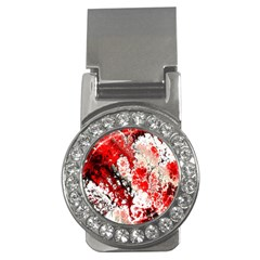 Red Fractal Art Money Clips (cz)  by Amaryn4rt