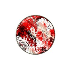 Red Fractal Art Hat Clip Ball Marker (4 Pack) by Amaryn4rt