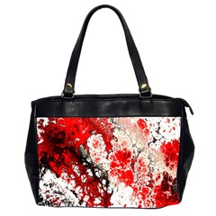 Red Fractal Art Office Handbags (2 Sides)  by Amaryn4rt