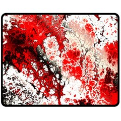 Red Fractal Art Fleece Blanket (medium)  by Amaryn4rt