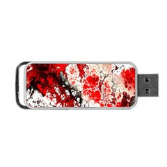 Red Fractal Art Portable Usb Flash (two Sides) by Amaryn4rt