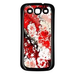 Red Fractal Art Samsung Galaxy S3 Back Case (black) by Amaryn4rt