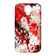 Red Fractal Art Samsung Galaxy S4 Classic Hardshell Case (pc+silicone) by Amaryn4rt