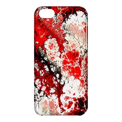 Red Fractal Art Apple Iphone 5c Hardshell Case by Amaryn4rt