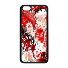 Red Fractal Art Apple Iphone 5c Seamless Case (black) by Amaryn4rt