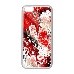 Red Fractal Art Apple Iphone 5c Seamless Case (white) by Amaryn4rt