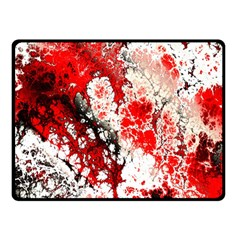 Red Fractal Art Double Sided Fleece Blanket (small)  by Amaryn4rt