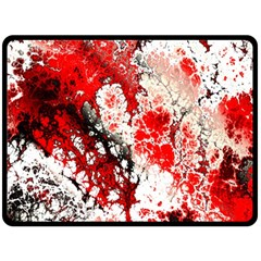 Red Fractal Art Double Sided Fleece Blanket (large)  by Amaryn4rt