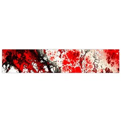 Red Fractal Art Flano Scarf (small) by Amaryn4rt