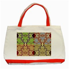 Multicolor Fractal Background Classic Tote Bag (red) by Amaryn4rt