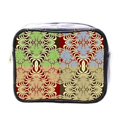 Multicolor Fractal Background Mini Toiletries Bags by Amaryn4rt