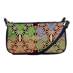 Multicolor Fractal Background Shoulder Clutch Bags by Amaryn4rt