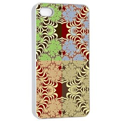 Multicolor Fractal Background Apple Iphone 4/4s Seamless Case (white) by Amaryn4rt