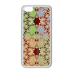 Multicolor Fractal Background Apple Iphone 5c Seamless Case (white) by Amaryn4rt