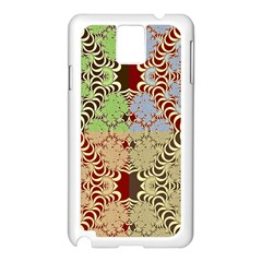 Multicolor Fractal Background Samsung Galaxy Note 3 N9005 Case (white) by Amaryn4rt