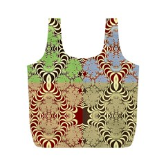 Multicolor Fractal Background Full Print Recycle Bags (m)  by Amaryn4rt
