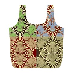 Multicolor Fractal Background Full Print Recycle Bags (l)  by Amaryn4rt