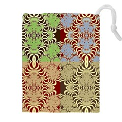 Multicolor Fractal Background Drawstring Pouches (xxl) by Amaryn4rt
