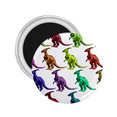 Multicolor Dinosaur Background 2 25  Magnets by Amaryn4rt