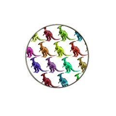 Multicolor Dinosaur Background Hat Clip Ball Marker (4 Pack) by Amaryn4rt