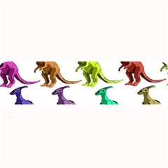 Multicolor Dinosaur Background Large Bar Mats