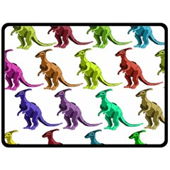 Multicolor Dinosaur Background Fleece Blanket (large)  by Amaryn4rt