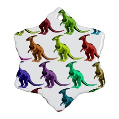 Multicolor Dinosaur Background Ornament (snowflake) by Amaryn4rt
