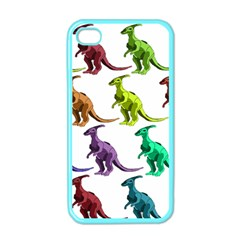 Multicolor Dinosaur Background Apple Iphone 4 Case (color) by Amaryn4rt