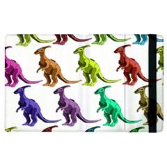 Multicolor Dinosaur Background Apple Ipad 3/4 Flip Case by Amaryn4rt