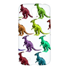 Multicolor Dinosaur Background Samsung Galaxy S4 I9500/i9505 Hardshell Case by Amaryn4rt