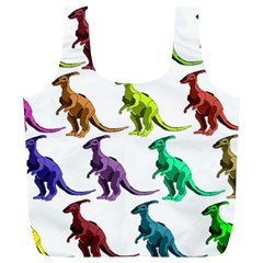 Multicolor Dinosaur Background Full Print Recycle Bags (l)  by Amaryn4rt