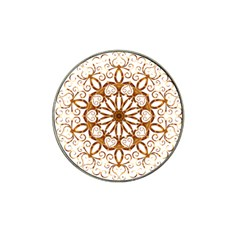 Golden Filigree Flake On White Hat Clip Ball Marker (4 Pack) by Amaryn4rt