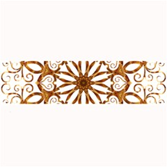 Golden Filigree Flake On White Large Bar Mats by Amaryn4rt