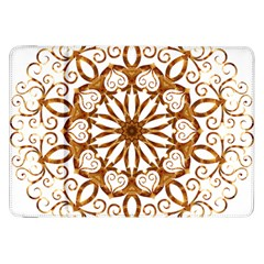 Golden Filigree Flake On White Samsung Galaxy Tab 8 9  P7300 Flip Case by Amaryn4rt