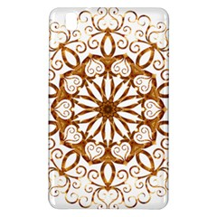 Golden Filigree Flake On White Samsung Galaxy Tab Pro 8 4 Hardshell Case by Amaryn4rt