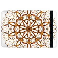Golden Filigree Flake On White Ipad Air 2 Flip by Amaryn4rt