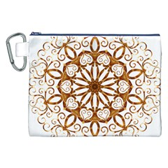 Golden Filigree Flake On White Canvas Cosmetic Bag (xxl) by Amaryn4rt