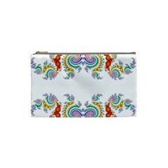 Fractal Kaleidoscope Of A Dragon Head Cosmetic Bag (small)  by Amaryn4rt