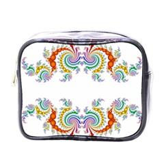 Fractal Kaleidoscope Of A Dragon Head Mini Toiletries Bags by Amaryn4rt