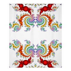 Fractal Kaleidoscope Of A Dragon Head Shower Curtain 60  X 72  (medium)  by Amaryn4rt
