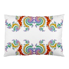 Fractal Kaleidoscope Of A Dragon Head Pillow Case (two Sides) by Amaryn4rt